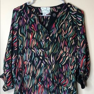 Stunning! Cachet 100% silk vintage dress size 12